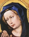 Blessing Christ and Praying Virgin (detail 2) c. 1424 - (Robert Campin) Master of Flémalle