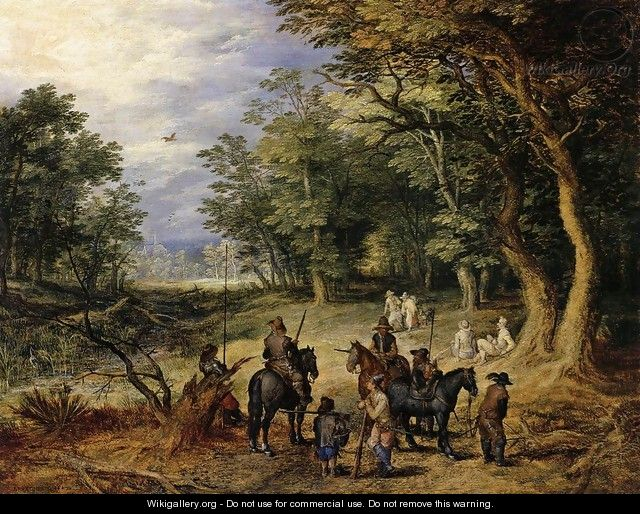 Guards in a Forest Clearing 1607 - Jan The Elder Brueghel