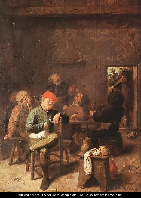 Peasants Smoking and Drinking c. 1635 - Adriaen Brouwer