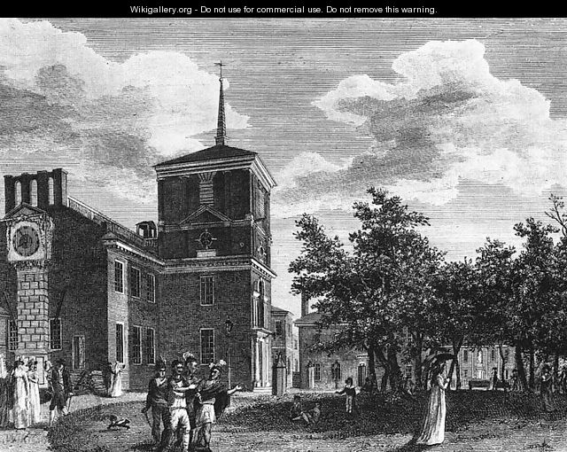 Back of the State House at Philadelphia 1799 - William Russell Birch