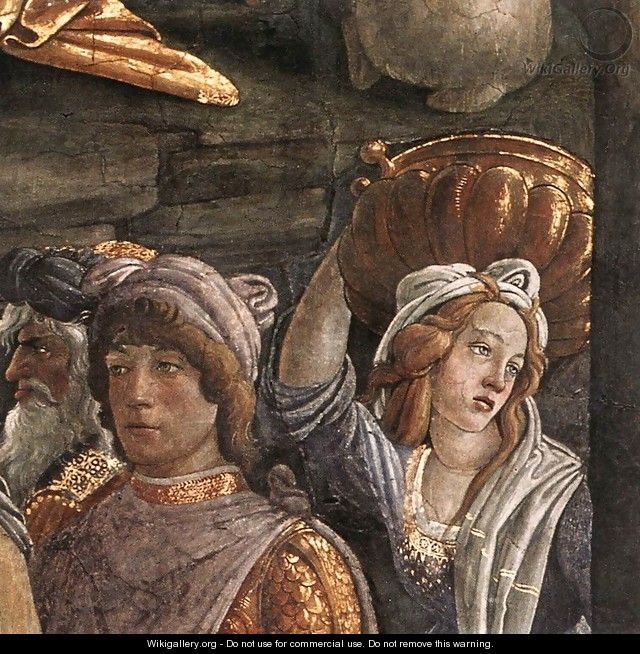The Trials and Calling of Moses (detail 5) 1481-82 - Sandro Botticelli (Alessandro Filipepi)