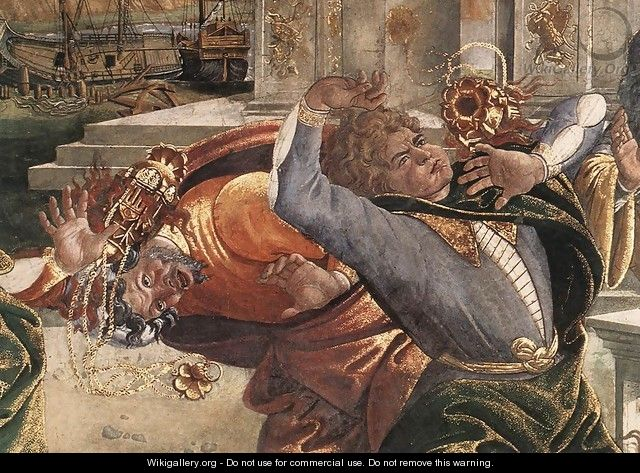 The Punishment of Korah and the Stoning of Moses and Aaron (detail 3) 1481-82 - Sandro Botticelli (Alessandro Filipepi)