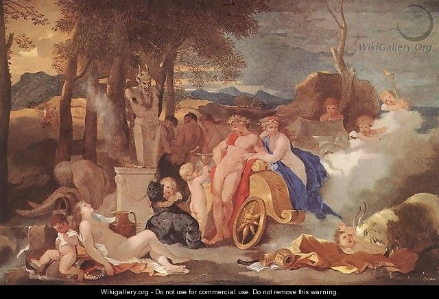 Bacchus and Ceres with Nymphs and Satyrs 1640-60 - Sébastien Bourdon