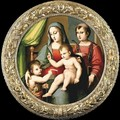 Madonna and Child with the Infant St John and St Peter Martyr - Andrea del Brescianino