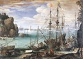 View of a Port c. 1607 - Paul Bril
