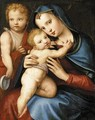 Madonna and Child with the Infant St John the Baptist c. 1524 - Andrea del Brescianino