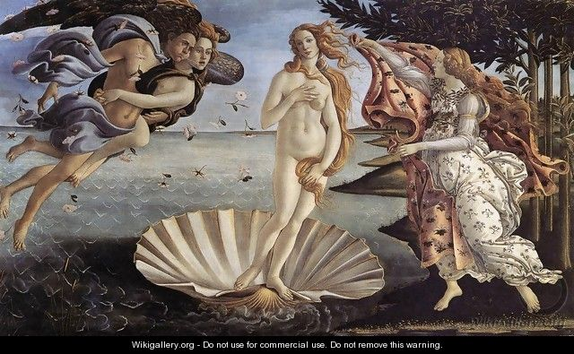 The Birth of Venus c. 1485 - Sandro Botticelli (Alessandro Filipepi)