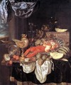 Large Still-life with Lobster 1653 - Abraham Hendrickz Van Beyeren