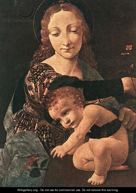 Virgin and Child with a Flower Vase (detail) - Giovanni Antonio Boltraffio