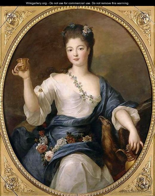 Portrait of the Duchess of Modena as Hebe - Pierre Gobert