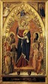 The Virgin of the Apocalypse with Saints and Angels c. 1391 - Giovanni del Biondo