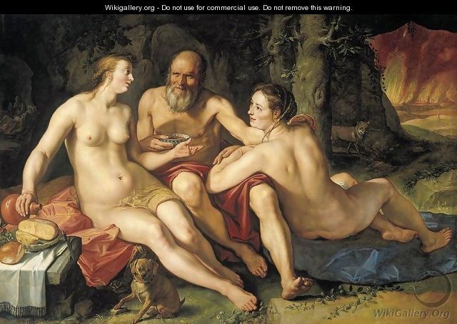 Lot and his Daughters 1616 - Hendrick Goltzius