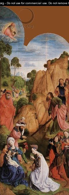 Calvary Triptych (left wing) 1465-68 - Hugo Van Der Goes