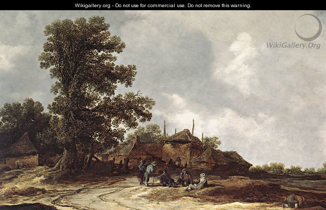 Farmyard with Haystack - Jan van Goyen