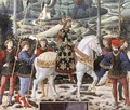 Procession of the Middle King (detail 1) 1459-60 - Benozzo di Lese di Sandro Gozzoli