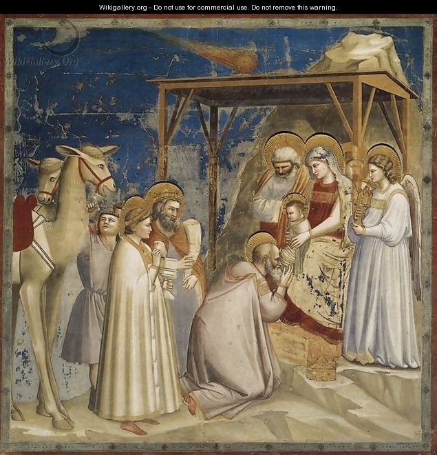 No. 18 Scenes from the Life of Christ- 2. Adoration of the Magi 1304-06 - Giotto Di Bondone