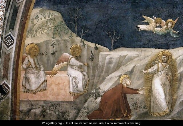 Scenes from the Life of Mary Magdalene- Noli me tangere 1320s - Giotto Di Bondone