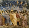 No. 31 Scenes from the Life of Christ- 15. The Arrest of Christ (Kiss of Judas) 1304-06 - Giotto Di Bondone