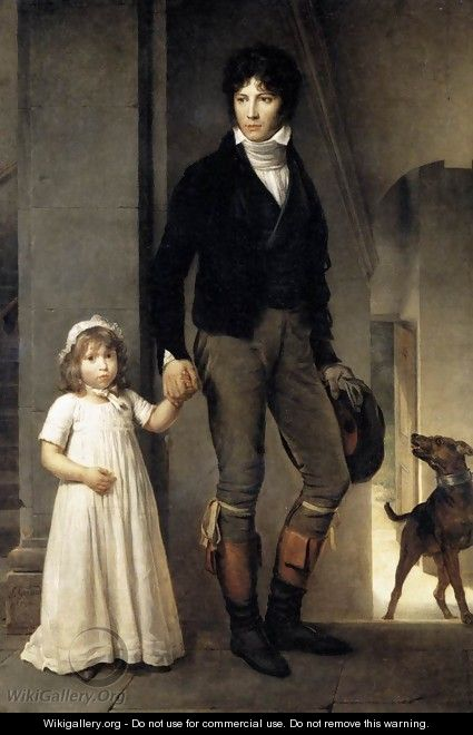 Jean-Baptist Isabey, Miniaturist, with his Daughter 1795 - Baron Francois Gerard