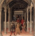 Quaratesi Altarpiece- Pilgrims at the Tomb of St Nicholas of Bari 1425 - Gentile Da Fabriano