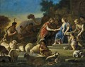 Jacob and Rachel at the Well c. 1690 - Luca Giordano