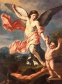 An Angel and a Devil Fighting for the Soul of a Child - Giacinto Gimignani