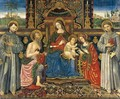 Madonna and Child Enthroned with Saints 1500 - Francesco Di Gabriele Da Viterbo