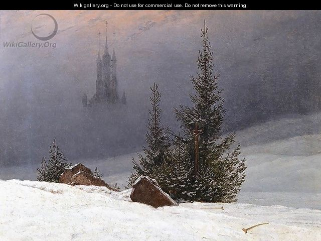 Winter Landscape with Church (2) 1811 - Caspar David Friedrich