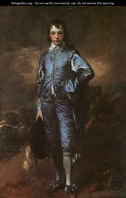 Portrait of Jonathan Buttall (The Blue Boy) 1770 - Thomas Gainsborough