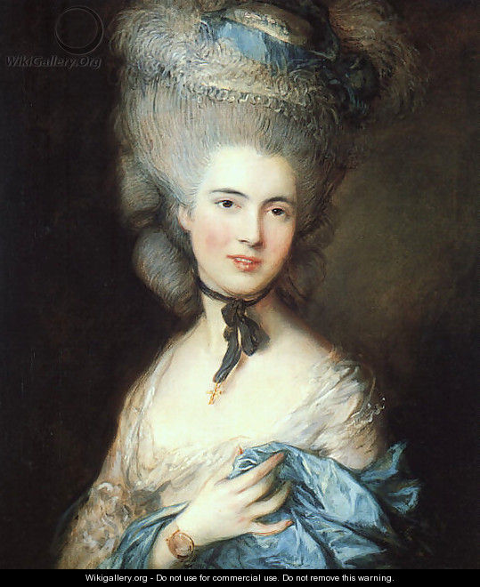 Portrait of a Lady in Blue 1777-79 - Thomas Gainsborough