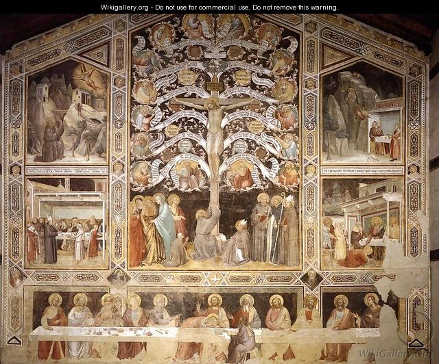 Last Supper, Tree of Life and Four Miracle Scenes 1360s - Agnolo Gaddi