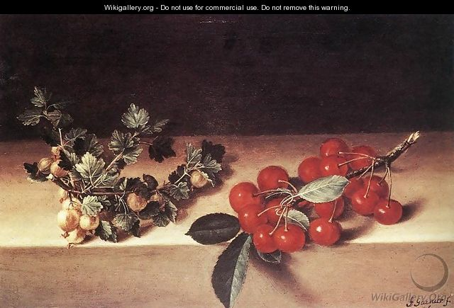 Cherries and Gooseberries on a Table 1644 - Francois Garnier