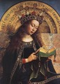 The Ghent Altarpiece- Virgin Mary (detail) 1426-29 - Jan Van Eyck