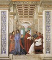 Foundation of the Library 1477 - Melozzo da Forli