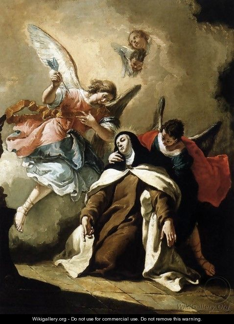 The Ecstasy of St Therese - Francesco Fontebasso