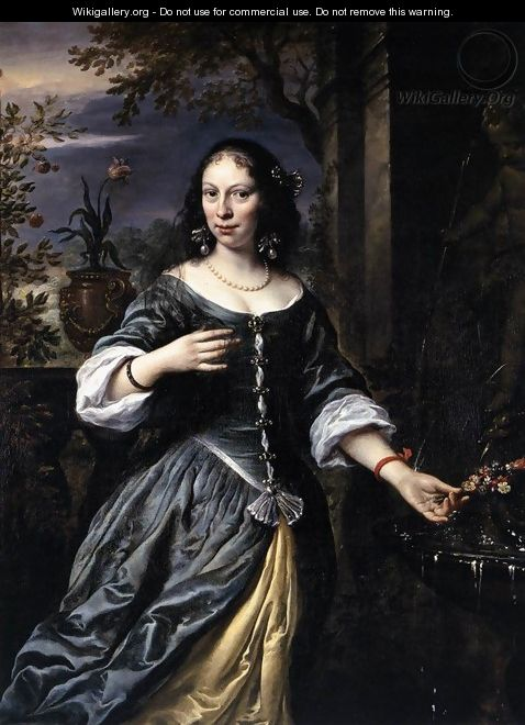 Portrait of Margaretha Tulp 1655 - Govert Teunisz. Flinck