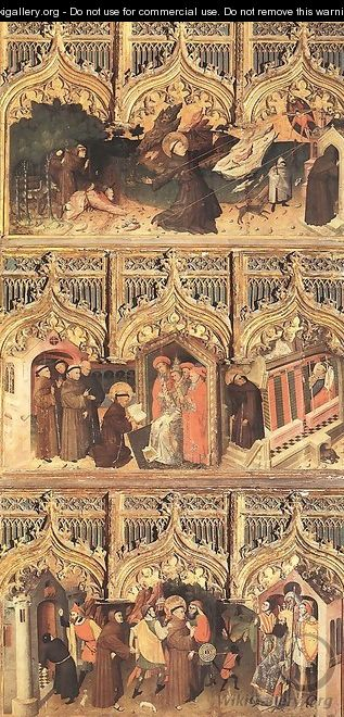Scenes from the Life of St Francis 1440s - Nicolas Frances
