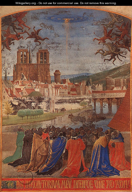 Descent of the Holy Ghost upon the Faithful 1452 - Jean Fouquet