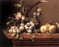 Plums and Peaches on a Table 1650 - Pierre Dupuys