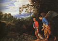 Tobias and the Archangel Raphael Returning with the Fish 1600s - Follwer of Elsheimer Adam