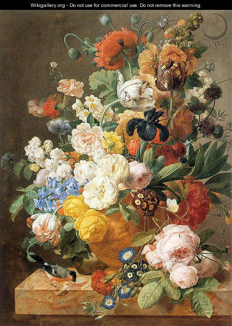 Bouquet of Flowers in a Sculpted Vase - Jan Frans Eliaerts