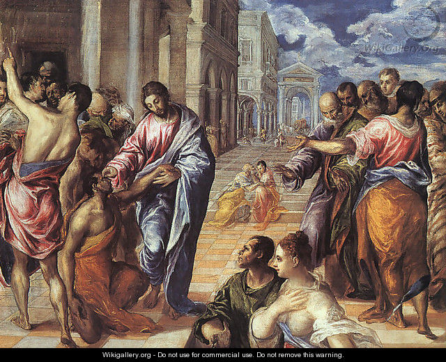 The Miracle of Christ Healing the Blind 1575 - El Greco (Domenikos Theotokopoulos)