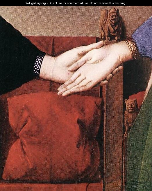 Portrait of Giovanni Arnolfini and his Wife (detail 4) 1434 - Jan Van Eyck