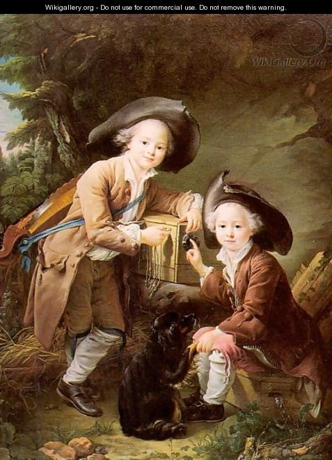 Le Comte and Chevalier de Choiseul as Savoyards 1758 - Francois-Hubert Drouais