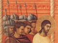 Christ Before Pilate Again (detail) 1308-11 - Duccio Di Buoninsegna
