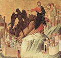 Temptation on the Mount (detail) 1308-11 - Duccio Di Buoninsegna