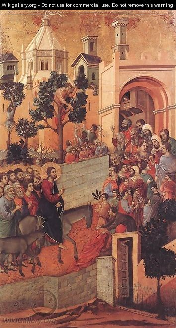 Entry into Jerusalem 1308-11 - Duccio Di Buoninsegna