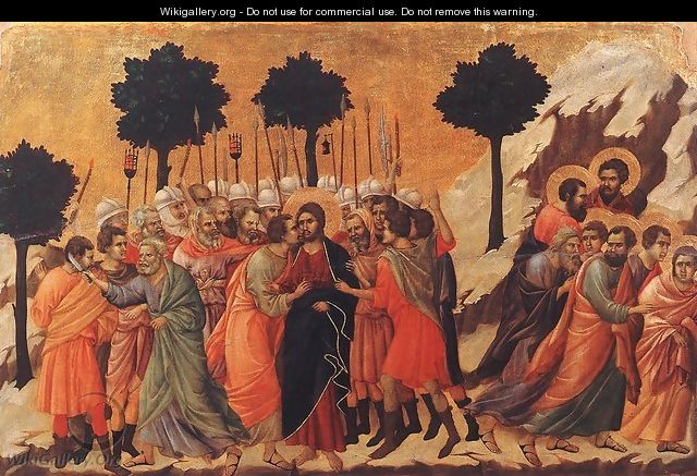 Christ Taken Prisoner 1308-11 - Duccio Di Buoninsegna