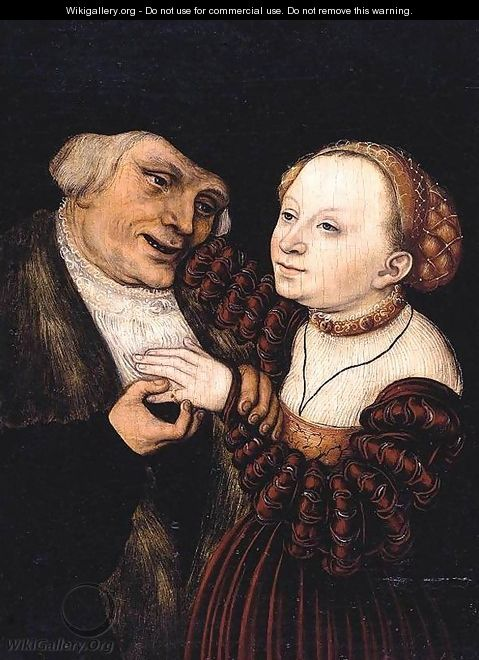 The Ill Matched Lovers - Lucas The Younger Cranach