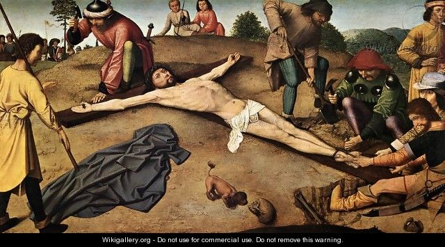 Christ Nailed to the Cross c. 1480 - Gerard David